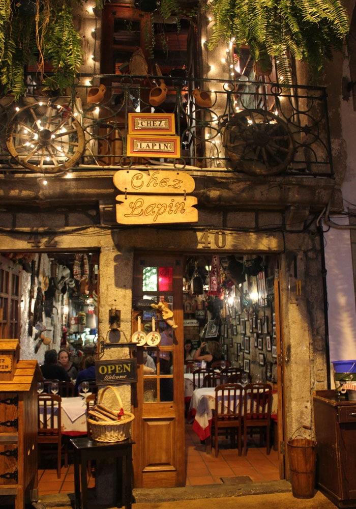 Exterior del Restaurante Chez Lapin comer en Oporto