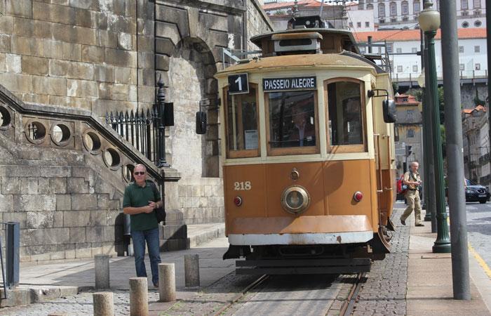 Tranvía de Oporto.