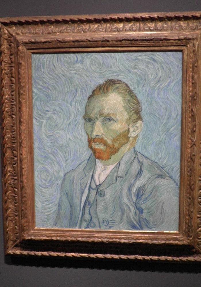 Autorretrato de Van Gogh en el Museo de Orsay de París Puente del Alma