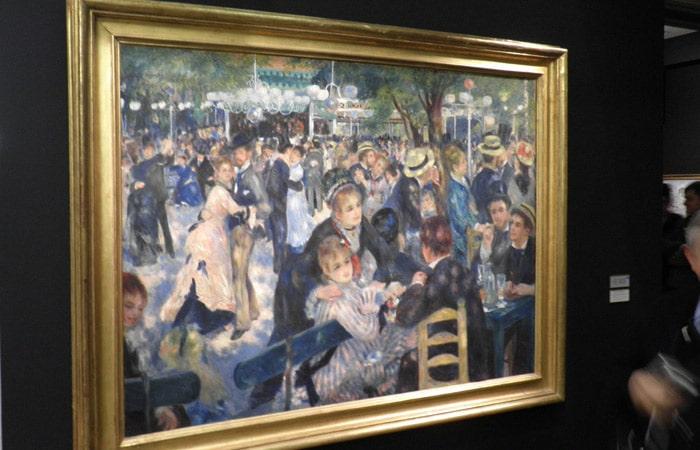 Baile en el Moulin de la Galette de Renoir en el Museo de Orsay de París Puente del Alma