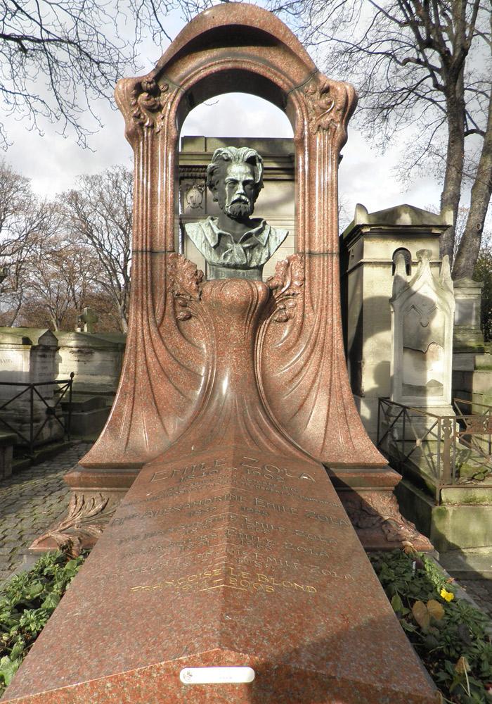 Tumba de Emile Zola en el Cementerio de Montmartre de París qué ver en Montmartre