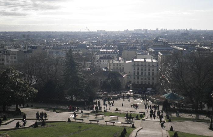 Vista de París desde la Basílica del Sagrado Corazón qué ver en Montmartre