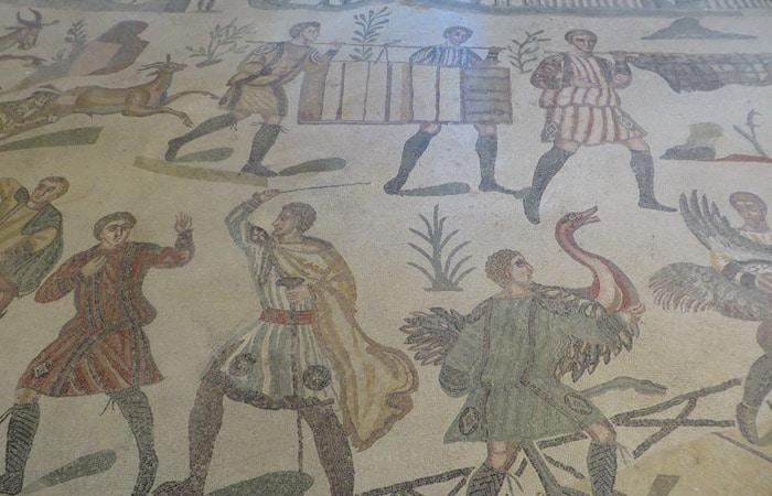 Escena de caza en la Villa Romana del Casale Sicilia