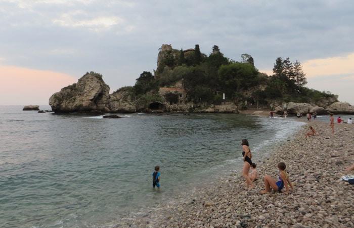 Isola Bella en Taormina Sicilia