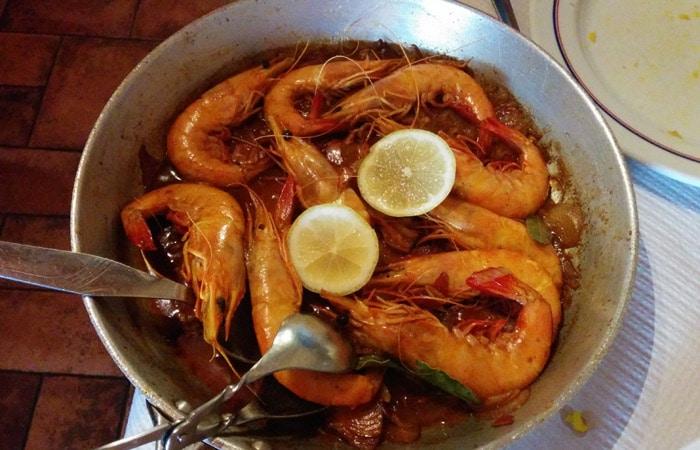 Langostinos al estilo del restaurante El Dorado de Foios Portugal