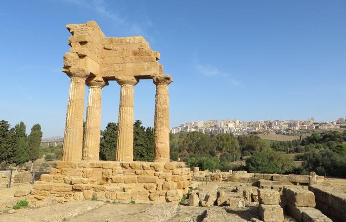 Templo de Cástor y Pólux Valle de los Tempos Agrigento