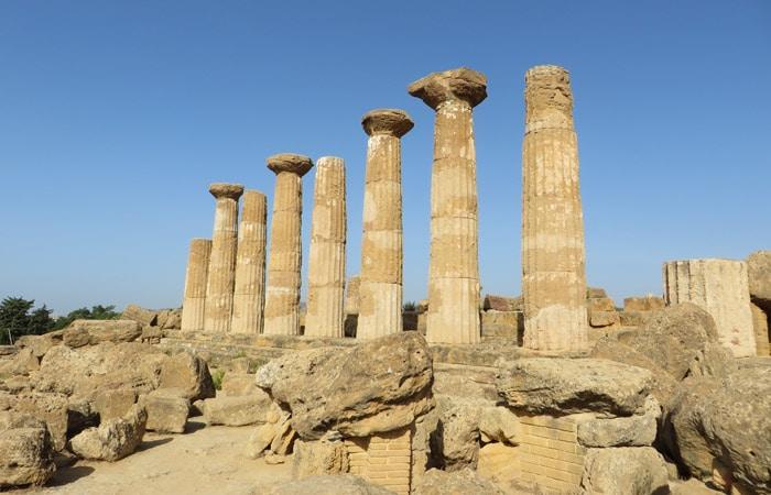 Templo de Hércules Valle de los Tempos Agrigento
