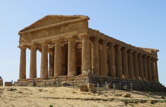Templo de la Concordia Valle de los Tempos Agrigento