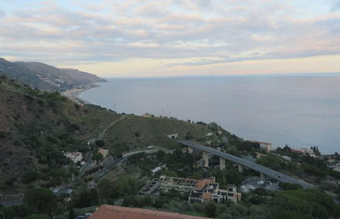 Vista desde el B&B La Terrazza Sul Mare de Taormina Sicilia