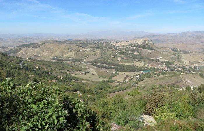 Vistas desde Enna Sicilia