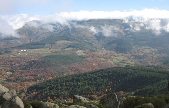 Vistas de la Sierra de Béjar desde la Peña Negra