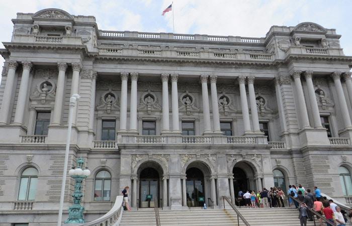 Fachada de la Biblioteca del Congreso Washington