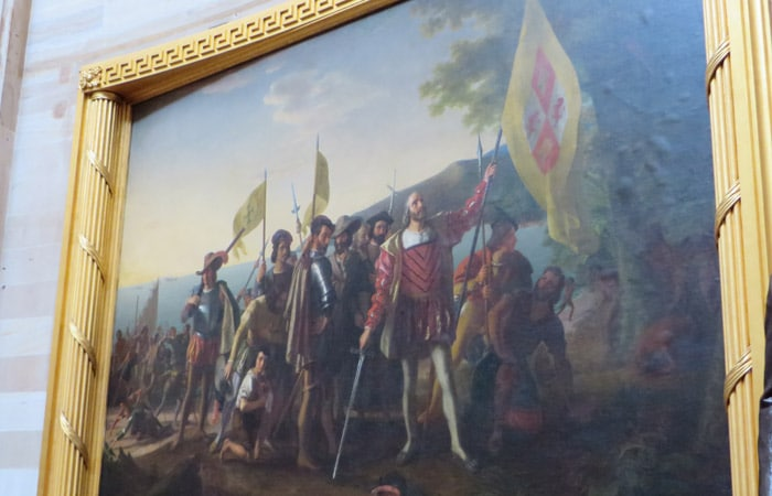 Landing of Columbus de John Vanderlyn en el Capitolio Washington