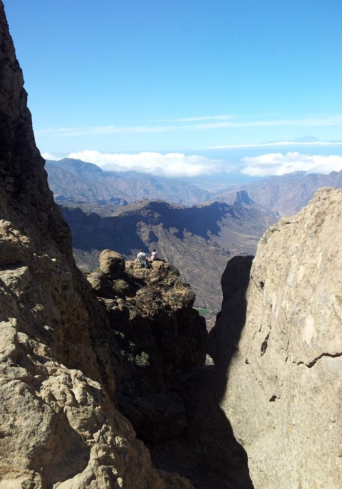 Mar de nubes desde lo alto del Roque Nublo