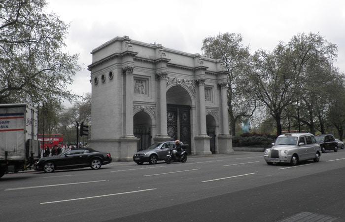Marble Arch en Hyde Park tres días en Londres