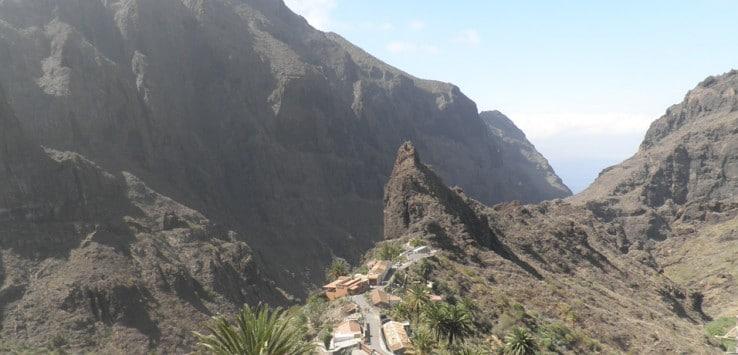 Vista del caserío y el barranco de Masca Tenerife