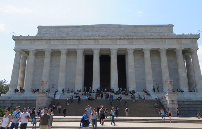Exterior del Monumento a Lincoln Washington