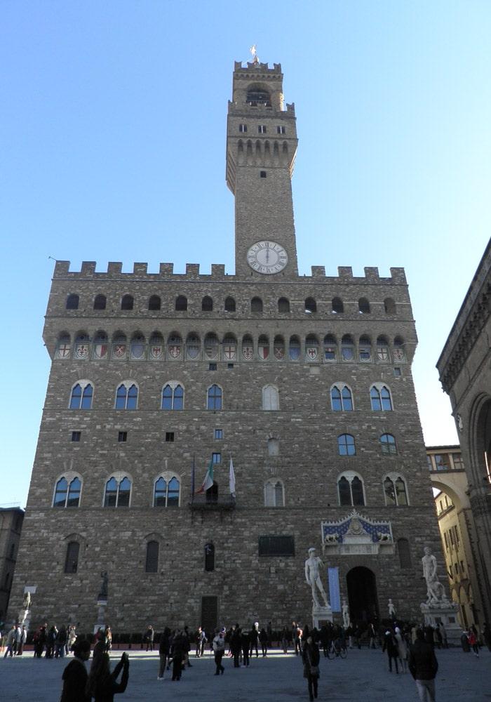 Palazzo Vecchio en la Piazza della Signoria qué visitar en Florencia