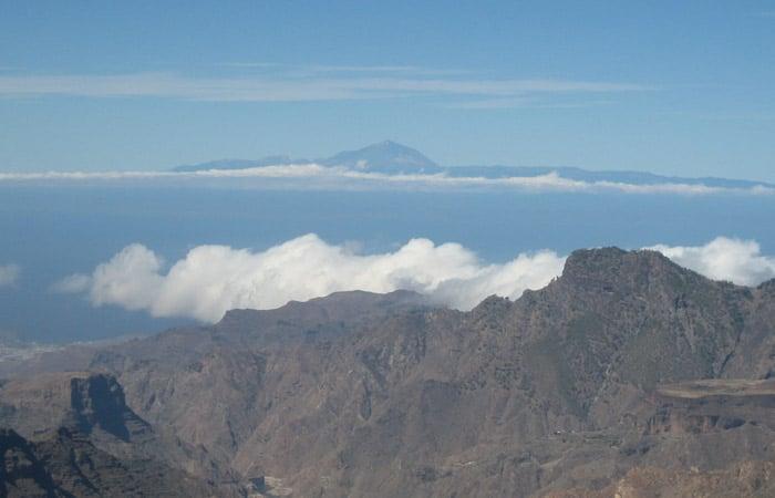 El Teide y el Atlántico desde el Roque Nublo