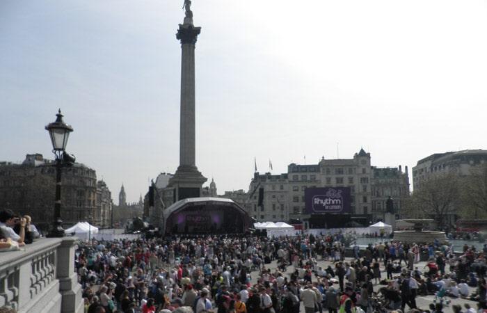 Trafalgar Square ruta por Londres