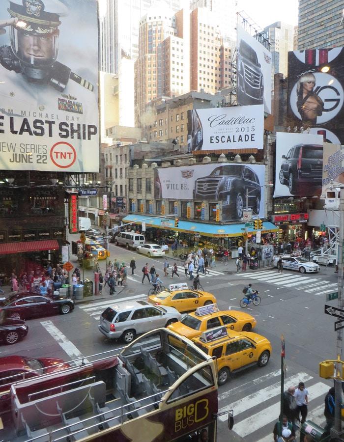 Séptima Avenida contrastes de Nueva York