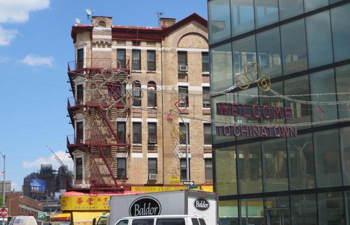 Chinatown contrastes de Nueva York