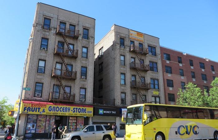 Edificios del Bronx contrastes de Nueva York