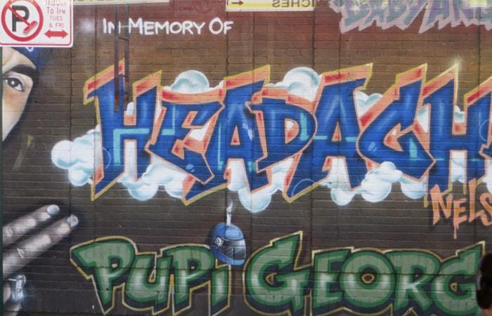 Grafiti de Pupi George en el Bronx contrastes de Nueva York