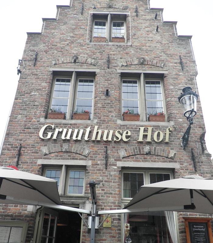 Restaurante Gruuthuse Hof qué ver en Brujas en un día