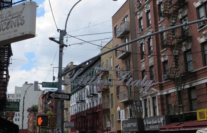 Little Italy contrastes de Nueva York