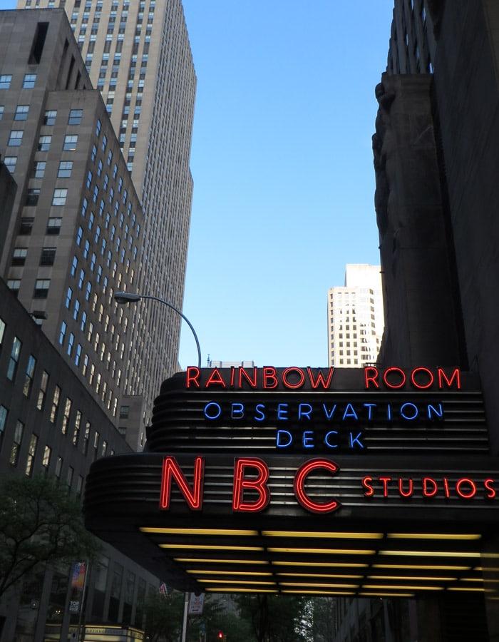Estudios de la NBC contrastes de Nueva York