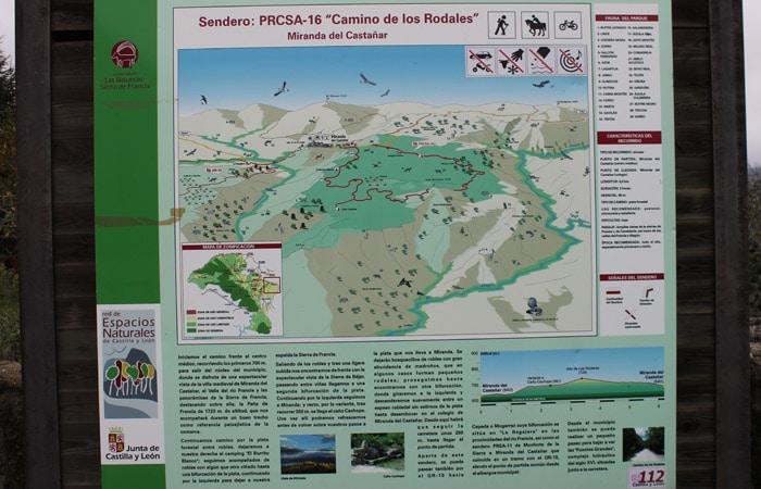 Panel informativo del Camino de los Rodales