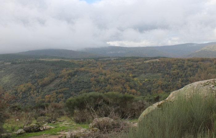 Panorámica de la Sierra de Francia Camino de los Rodales