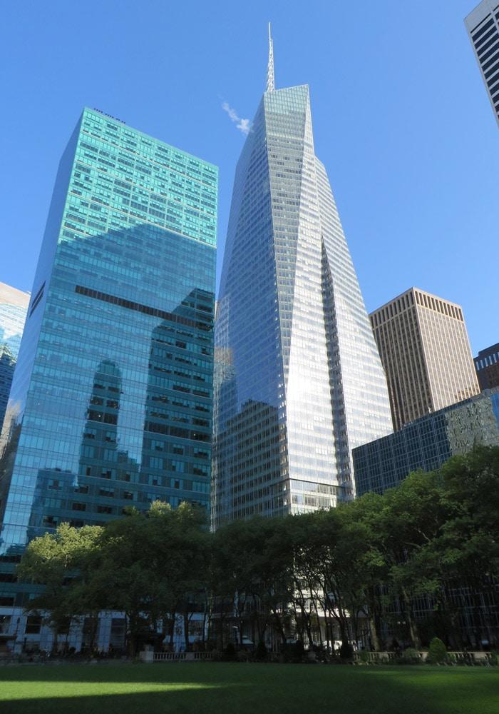 Rascacielos desde Bryant Park ferry a Staten Island