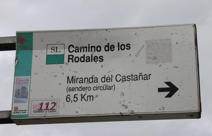 Señal del Camino de los Rodales