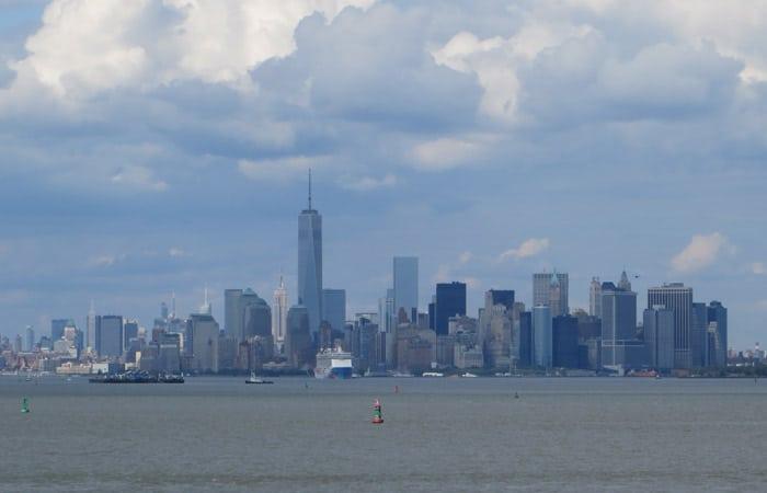 Skyline de Manhattan desde el ferry a Staten Island
