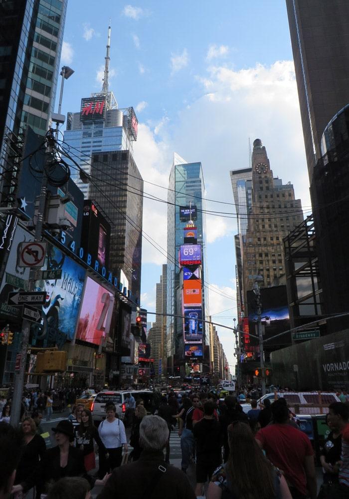 Times Square contrastes de Nueva York