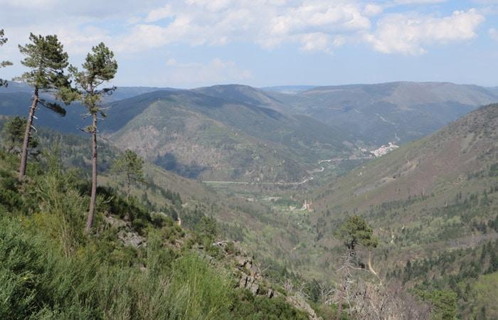 Vista de la Ribeira de Leandres Ruta del Jabalí
