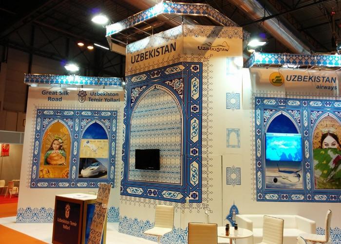 Estand de Uzbekistan feria Fitur