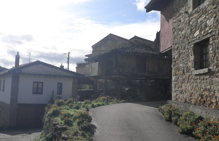 Hórreo en Samartín d'Ondes Ruta del Castañal