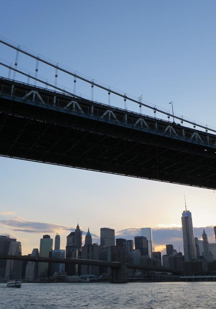 Una de las hermosas vistas del paseo en barco por Nueva York