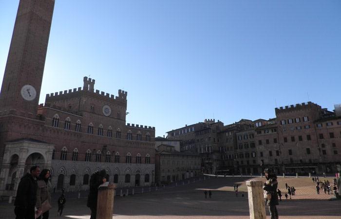 Vista de la Piazza del Campo de Siena