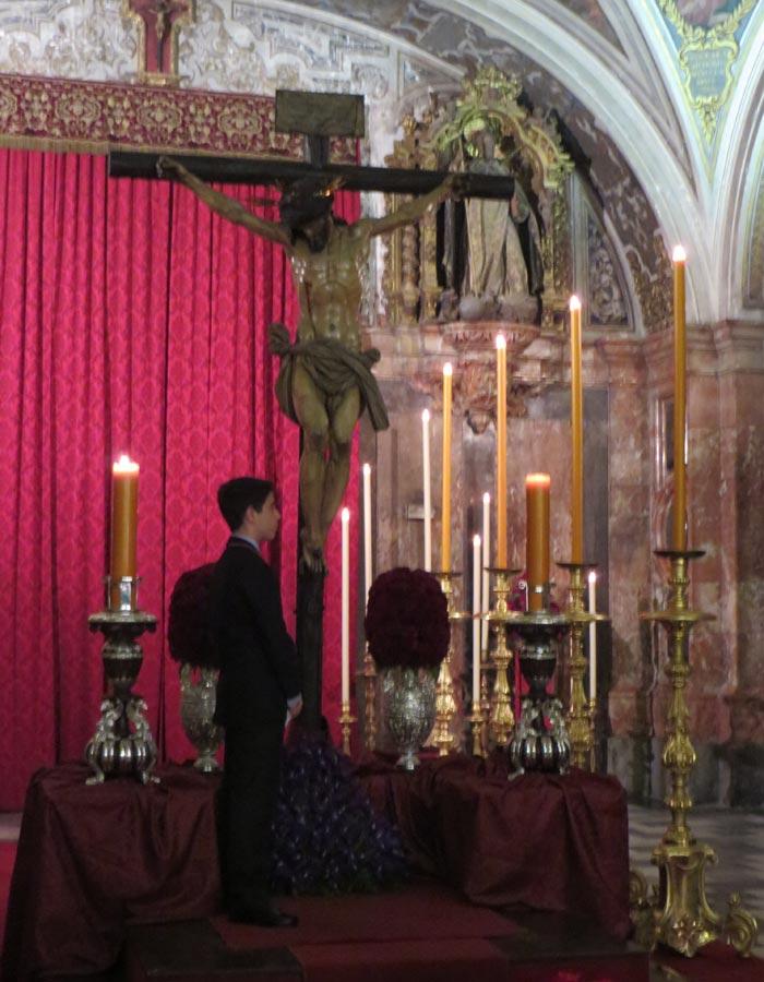 Cristo del Calvario en la iglesia de Santa María Magdalena