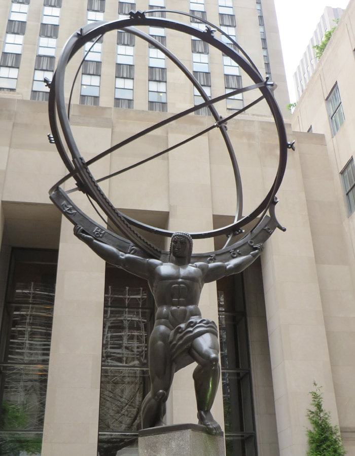 Estatua de Atlas en el Rockefeller Center