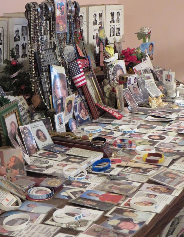 Fotos de algunos fallecidos en el 11-S en St. Paul's Chapel