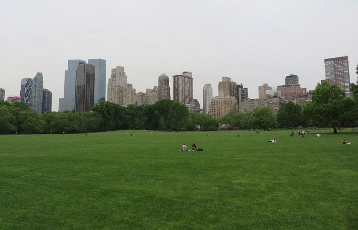 Gran prado (great lawn) paseo en bici por Central Park