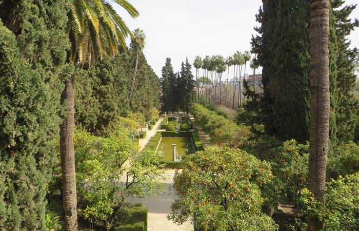 Jardines de los Reales Alcázares monumentos de Sevilla