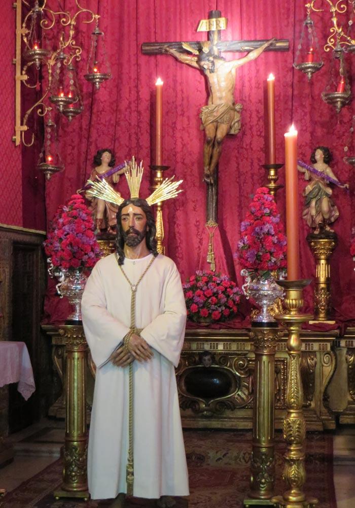 Jesús ante Anás y Cristo del Mayor Dolor en la iglesia de San Lorenzo