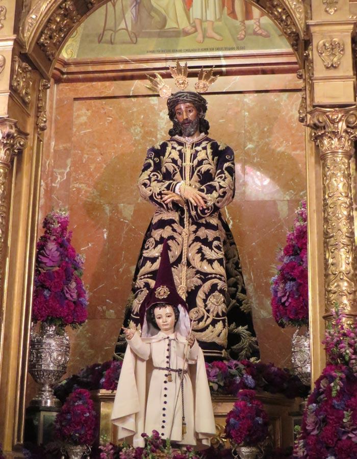 Jesús de la Sentencia en la basílica de la Macarena