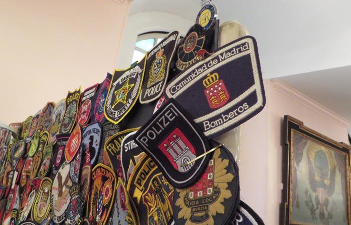 Pegatina de los Bomberos de la Comunidad de Madrid en St. Paul's Chapel
